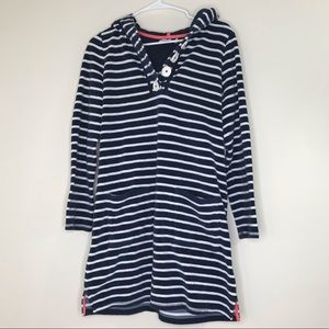 BODEN Striped Terry Hooded Tunic (8)